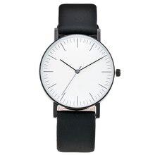 NO LOGO Elite clásico Reloj Mujeres de Los Hombres Simple Puntero Estable XF0944 Entrevista de Cuello Blanco Reloj de Moda reloj de pulsera relogio