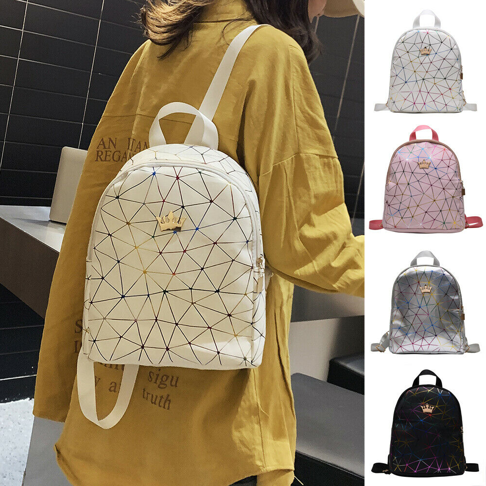 Women Mini Backpack PU Leather Shoulder School Rucksack Ladies Girls Travel Bag