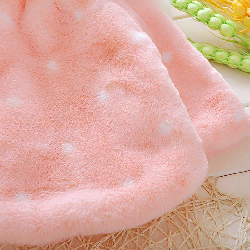 סגנון חדש תינוק פעוט תינוקות בנות בגדים חמוד צמר פרווה 2019 חורף חם מעיל הלבשה עליונה גלימת מעיל ילדים חמוד מעיל בגדים