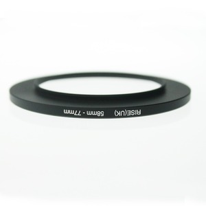 Image 2 - Originele Rise (Uk) 58 Mm 77 Mm 58 77 Mm 58 Te 77 Step Up Ring Filter Adapter Black