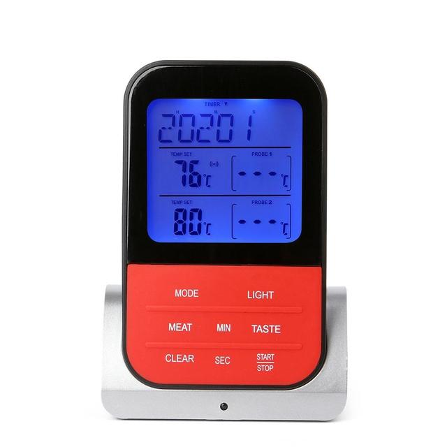 AsyPets Wireless Waterproof BBQ Thermometer Digital Cooking Meat Food Oven Grilling Thermometer With Timer Function-30
