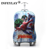 16 inches cartoon 3D extrusion EVA Luggage kids Climb stairs luggage suitcase Travel cartoon child trolley case Christmas gift