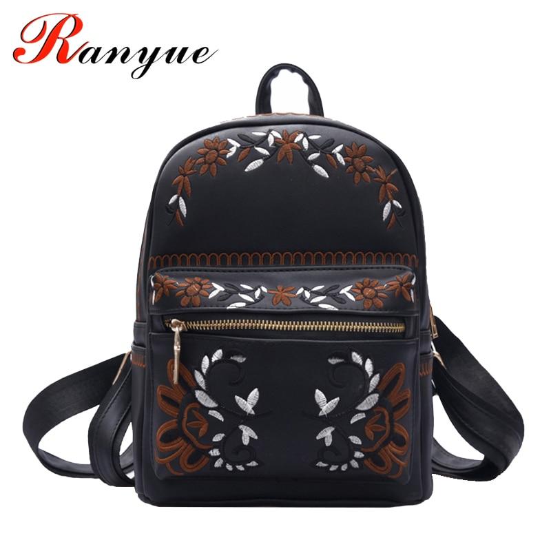 floral mochila mochilas de couro Técnica : Gravando