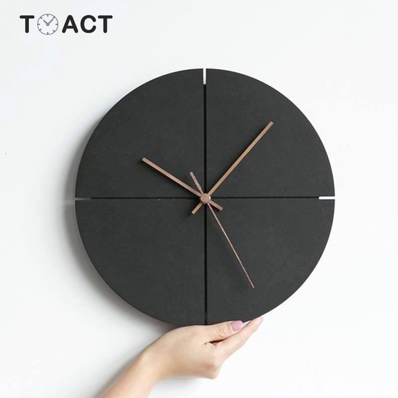 Nordic Wall Clock Minimalist Wall Clocks Modern Design Living Room Personality Household Silent Hanging Watches   Home Decor