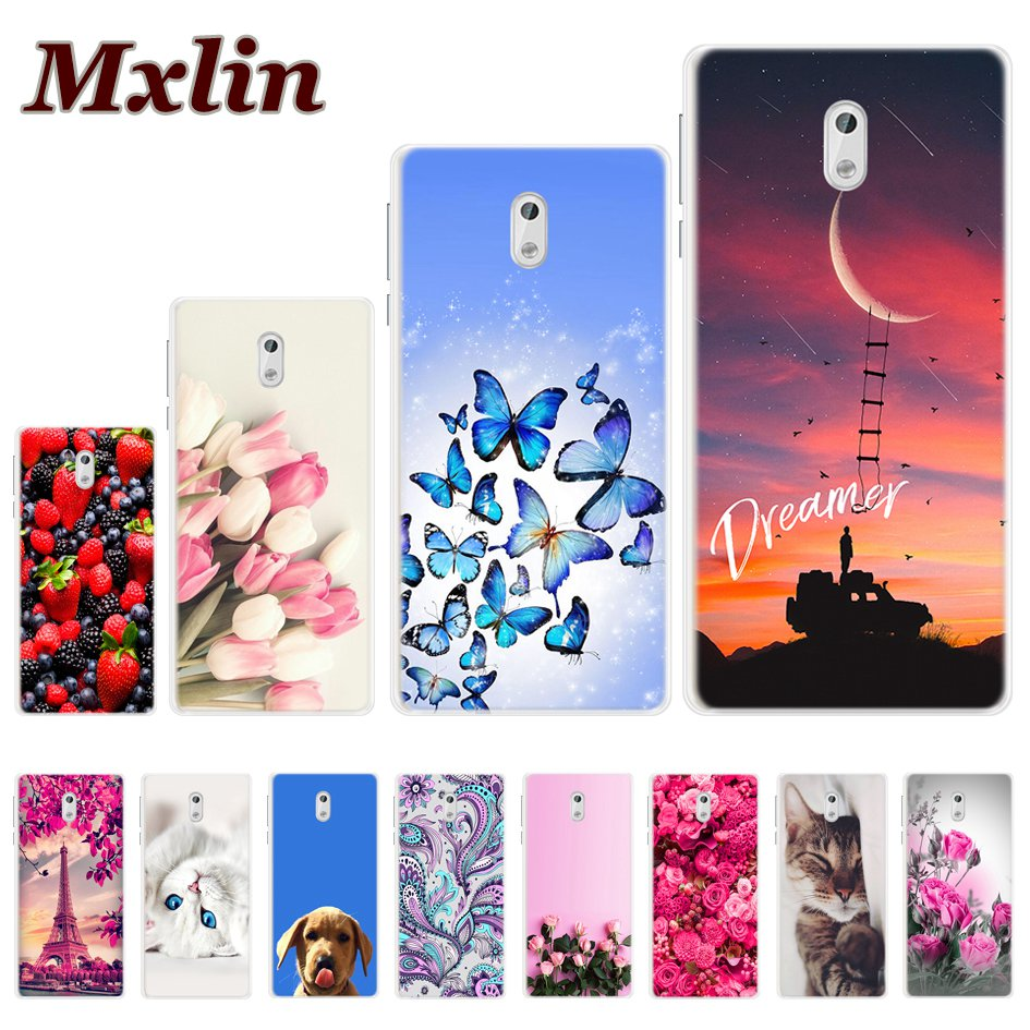 Silicone Cover For <font><b>Nokia</b></font> <font><b>3</b></font> <font><b>Case</b></font> <font><b>Nokia</b></font> <font><b>3</b></font>.1 2018 Printing Cute Cat Design Soft TPU <font><b>Case</b></font> For <font><b>Nokia</b></font> <font><b>3</b></font>.1 <font><b>3</b></font> TA-<font><b>1032</b></font> Phone Fundas Coque image