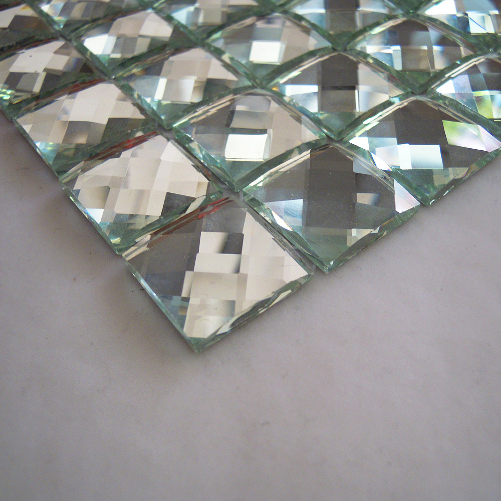 Faced Diamond Mirror Gl Mosaic Tile