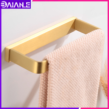 цена Bathroom Towel Ring Gold Washroom Single Towel Rack Hanging Holder Wall Mounted Brass Towel Bar Holder Bathroom Accessories онлайн в 2017 году