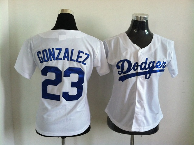 Best Gift 23 Adrian Gonzalez Jersey Women White Los Angeles Dodgers Jerseys  Baseball Gonzalez Jersey ladies girl 81902e446b0