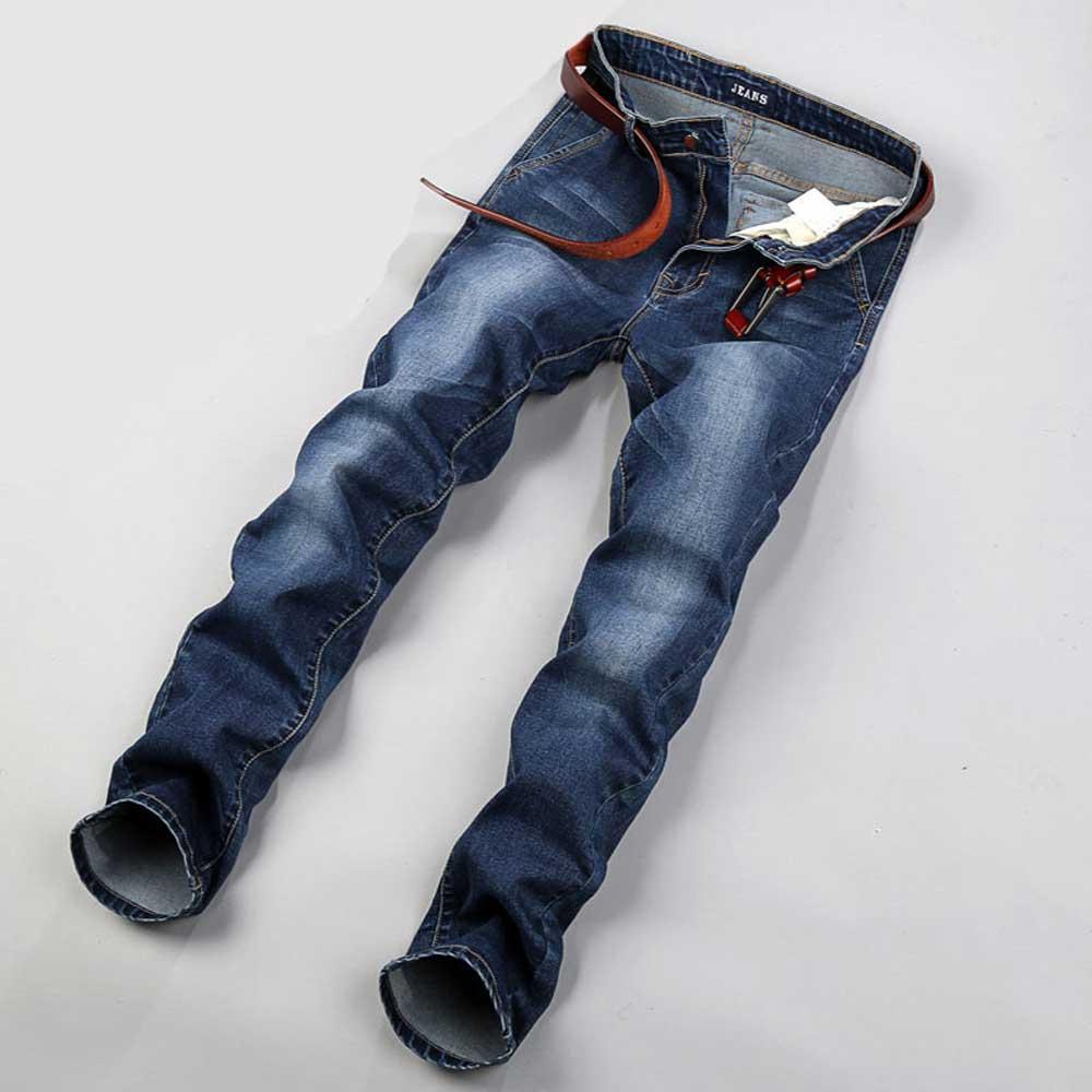 a80e959efa Hombres Relaxed Fit Straight Leg Jeans Elásticos Pantalones de Mezclilla  para Hombres de Talla Grande 28 42 44 46 48 en Pantalones vaqueros de La  ropa de ...