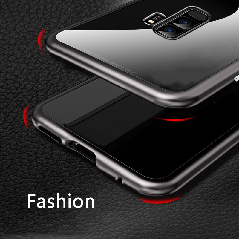 low priced 45229 a94f4 Magnetic Absorption Samsung Galaxy S8 S9 Plus Note 8 Xiaomi Mi 8 Mi8 Glass  Cover For Iphone X 6 6S 7 8 Plus Coque Capa