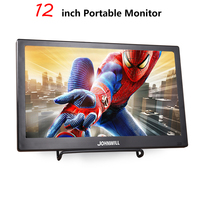 12 inch LCD Portable HDMI Monitor for Macbook Pro VGA Interface 1920x1080 Gaming Display For Home Security System PS4 Xbox360