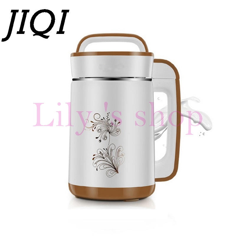 JIQI electric Soymilk machine household Soyabean Milk Maker Stainless Steel automatic heating soy beans Milk juicer blender 1.5L cukyi household electric multi function cooker 220v stainless steel colorful stew cook steam machine 5 in 1
