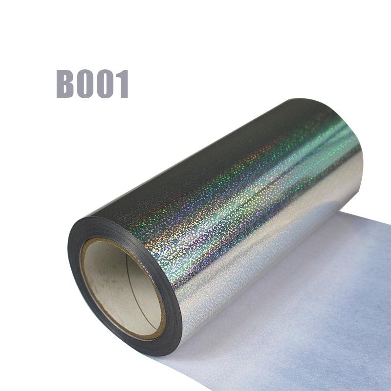 Livraison gratuite 1 rouleau 25cm x 25m hologramme transfert de chaleur vinyle Laser argent fer sur Film HTV T-shirt