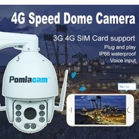 H613M18FG 6 inch 3G 4G SIM Card High Speed Dome Camera 960P 360degree PTZ Outdoor IP Camera 18xZoom CCTV Security Camera IR 150M