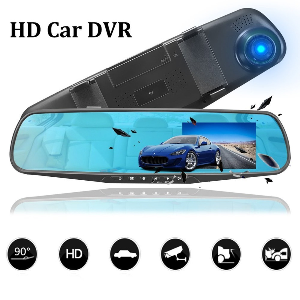 1080P Full HD Rearview Mirror Night Vision Car DVR Dash Cam 90 Degrees View Angel Car Video Recorder Automobile Accessories