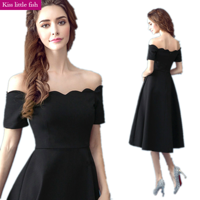 318 Free Shipping 2018 New Arrive Sex Short Black Cocktail Dresses
