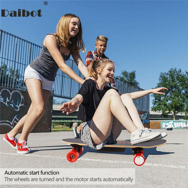 Daibot trottinette électrique Pour Enfants Quatre Roues trottinette électrique s 24 V 150 W Sans Fil À Distance Portable mini scooter électrique Planche À Roulettes