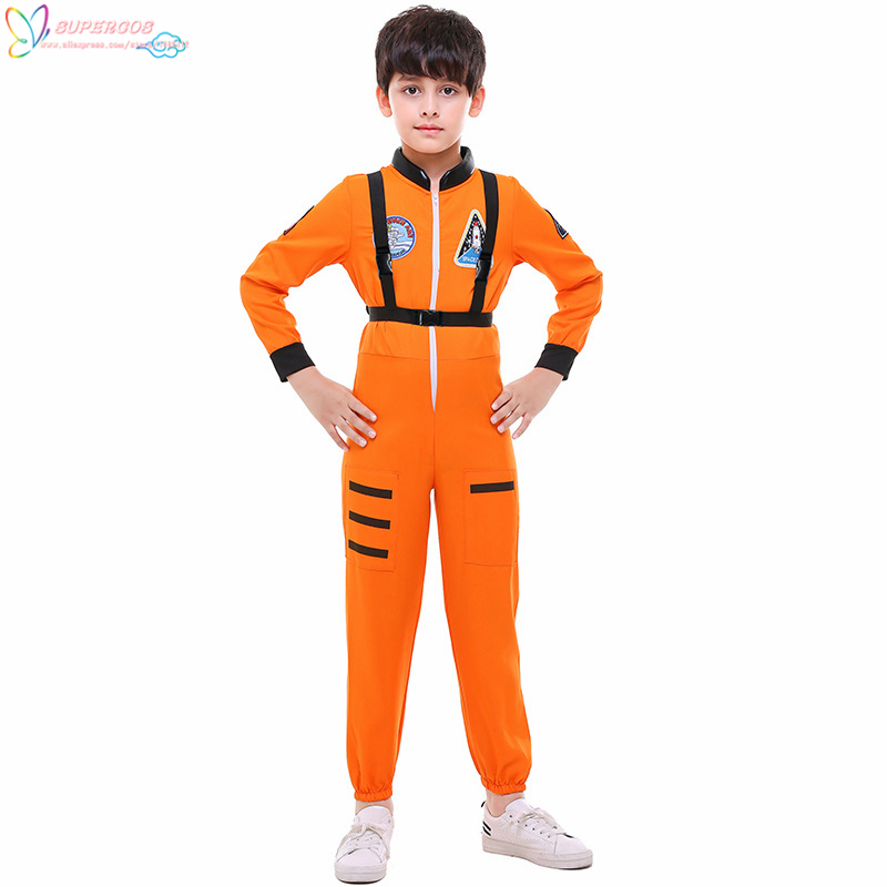 Space astronaut pilot children's Jumpsuit baseball Costume stage costume