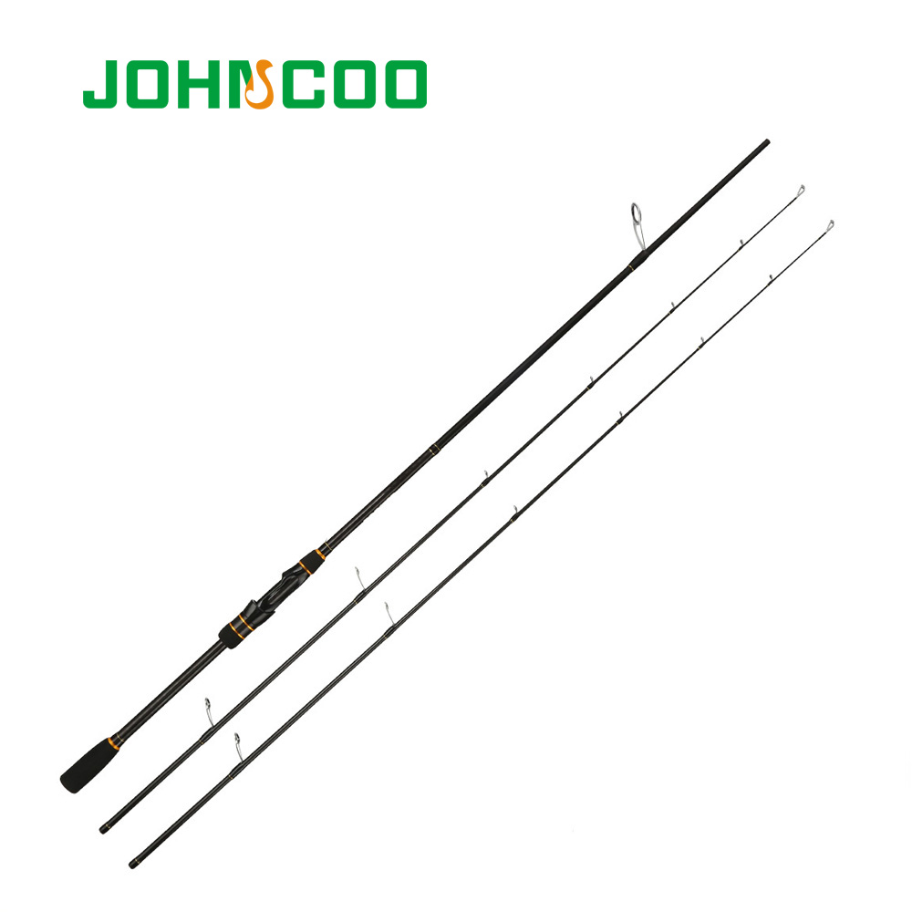 JOHNCOO Carbon Spinning Rod Casting Booster Jigging Rod 2 Sections Fishing pole Ex-Fast Fishing Rod 2.1m ML M 2 Tips 5-28g