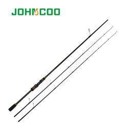 JOHNCOO Carbon Spinning Hengel Casting Booster Jigging Hengel 2 Secties Fishing pole Ex-Snelle Hengel 2.1m ML M 2 Tips 5-28g