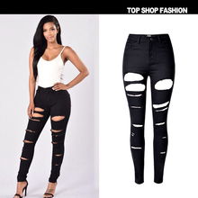 Liva Girl Sexy High waist jeans mujer Skinny black Hold Pants stretch Trousers Female Personality pencil pants