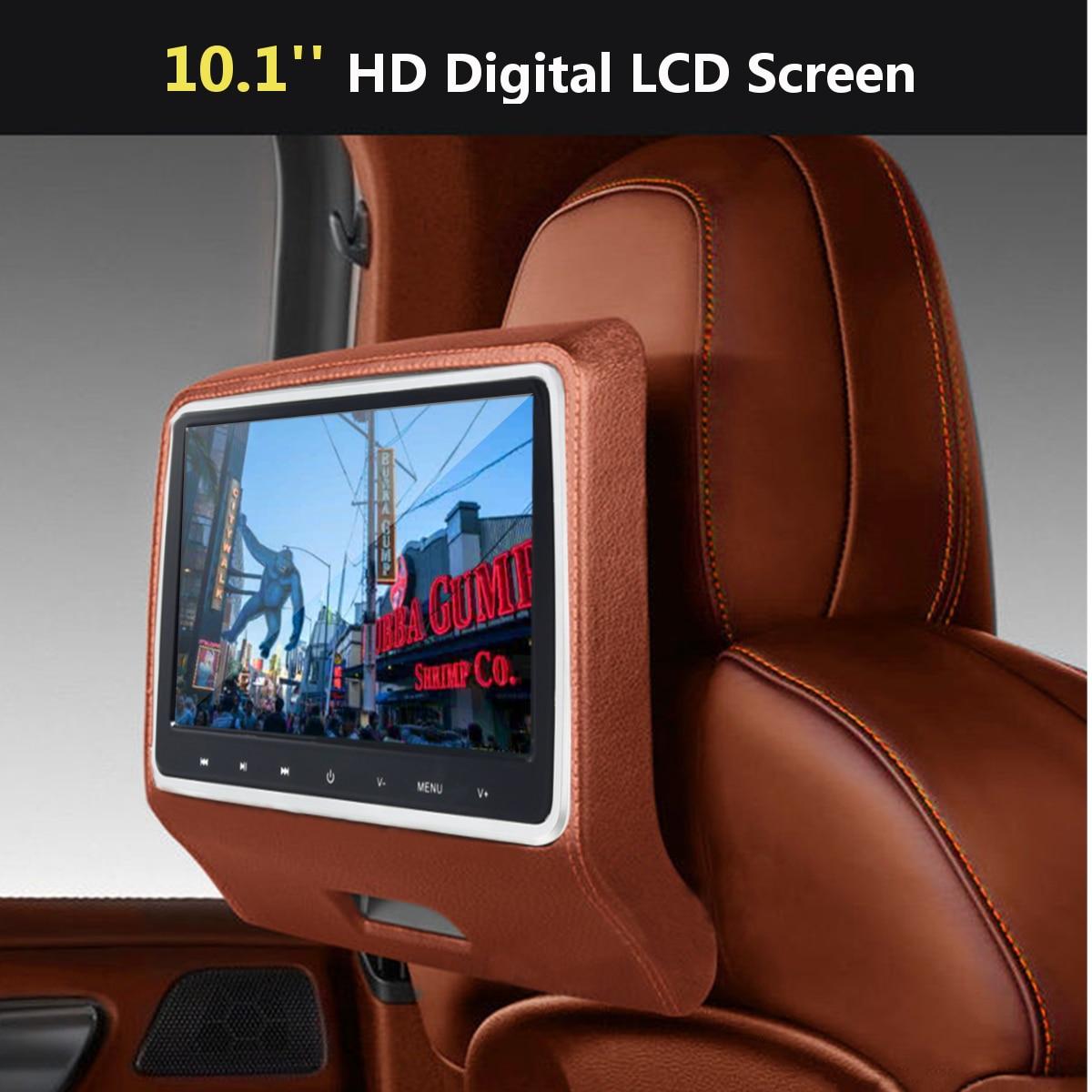 10.1 ''Voiture LCD Vidéo Appui-Tête Moniteur SD USB MP5 Radio CD DVD Lecteur IR/FM Jeu