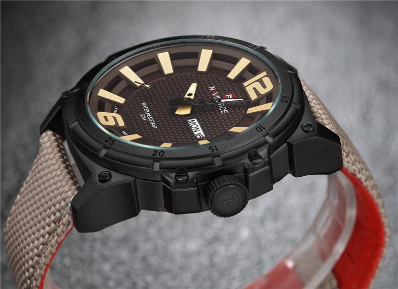 2017 NEW Luxury Brand NAVIFORCE Herre Sportsure Mænds Quartz Clock - Mænds ure - Foto 4