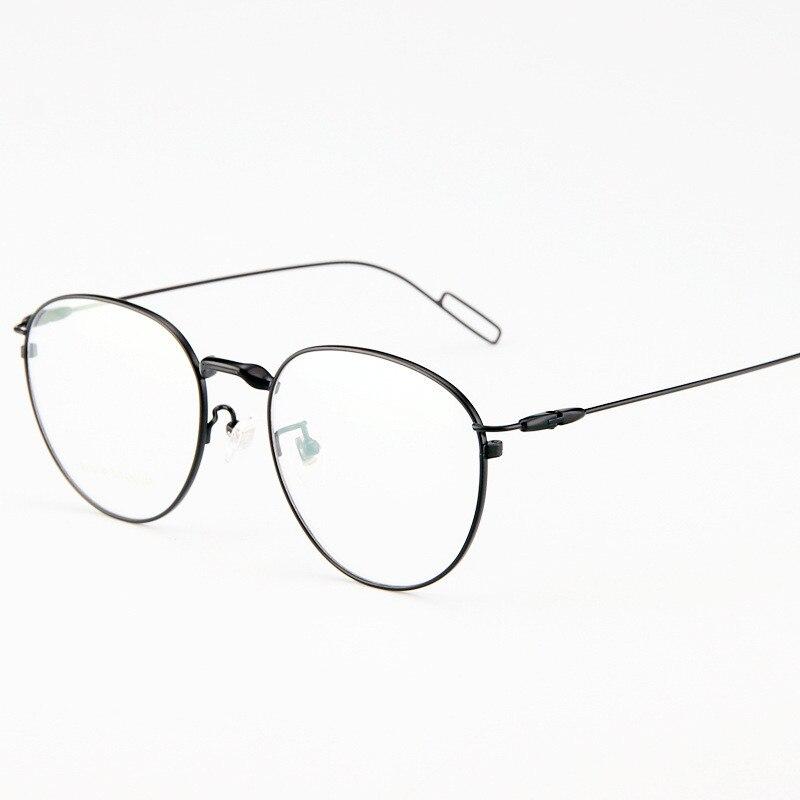 Reinem titan brillengestell Runde brille für männer und frauen ...