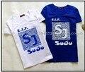Горячий продавать 2017 super junior star team concert одежда 2 одежда для футболка homme де марка короткими рукавами футболка