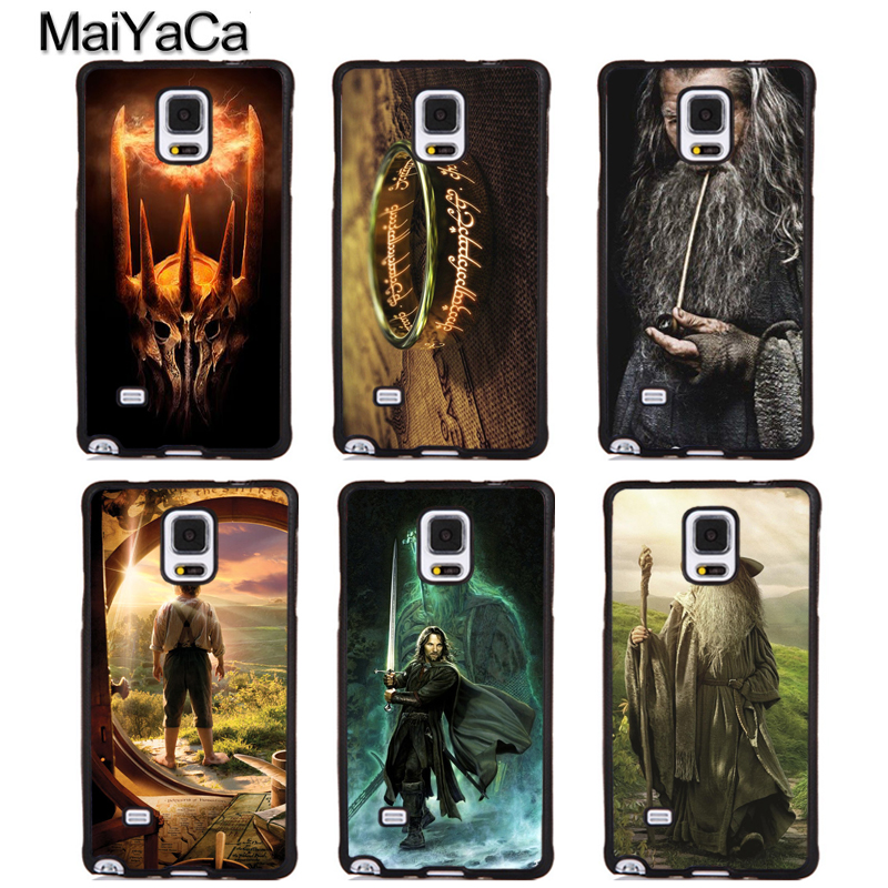 MaiYaCa Lord Of The Rings Hobbit Gandalf Full Protective Phone Cases For Samsung S5 S6 S7 edge Plus S8 S9 plus Note 4 5 8 Cover
