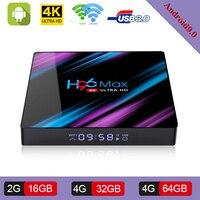 H96max Android 9.0 Smart TV BOX 4GB 32GB 64GB Rockchip RK3318 2.4G/5G Wi Fi H.265 1080 p 4 K USB3.0 Google Play Store