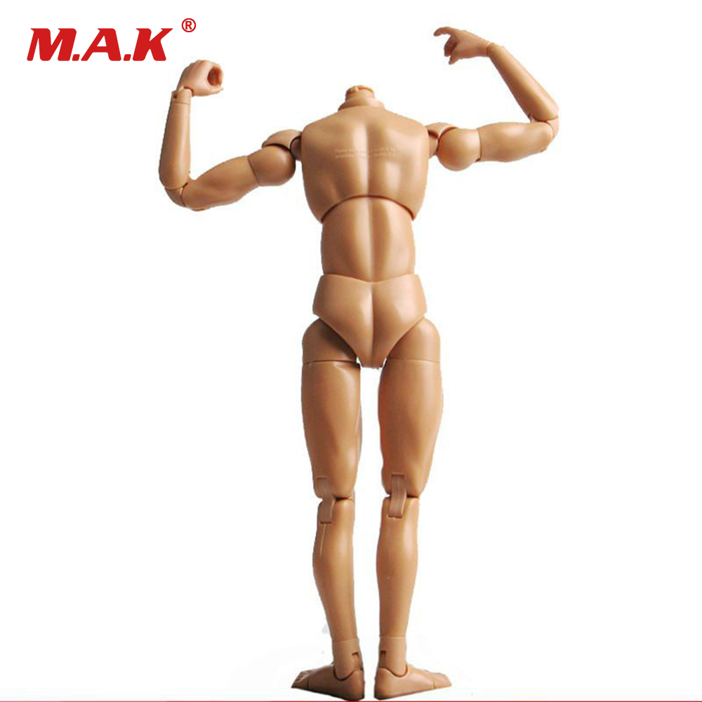 "Dragon Neo-3 1: 6 Scale Naken Male Body Figure Smal Shoulder Muscle Man Soldier Modell Tillbehör för 12 ""Action Figur Doll Leksaker"