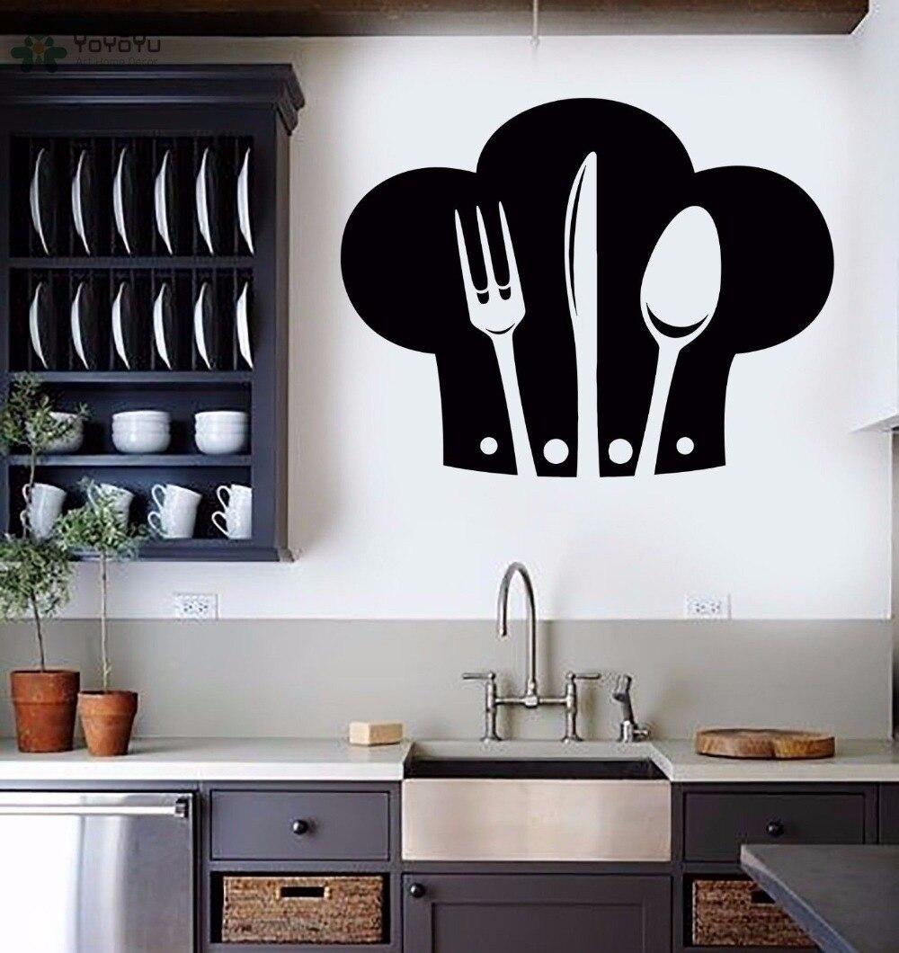 YOYOYU Wall Decal Kitchen Wall Stickers Vinyl Chef Hat