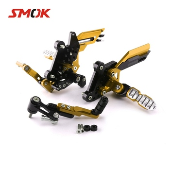 SMOK Motorcycle CNC Aluminum Alloy Footrest Foot Rest Pegs Rear Sets Rearset For Honda CBR650F CB650F 2014 2015 2016 2017 2018