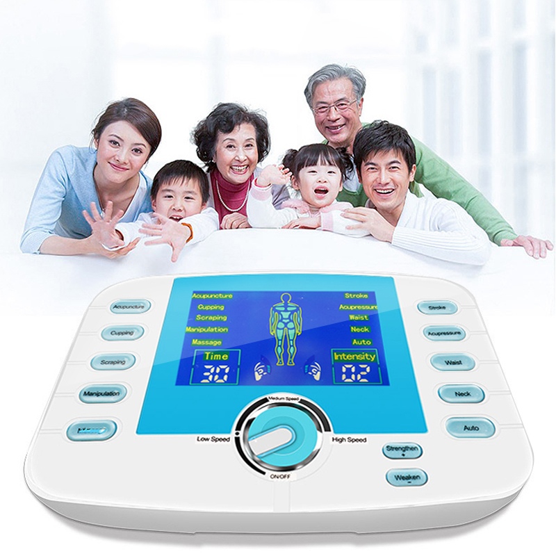 Dual Output 10 Modes Super power Massage TENS Physiotherapy Muscle Stimulator Full Body Relaxation Acupuncture Electric MassagerDual Output 10 Modes Super power Massage TENS Physiotherapy Muscle Stimulator Full Body Relaxation Acupuncture Electric Massager
