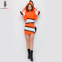 Halloween Adult Party Women Costume Finding Nemo Clown Fish Marlin Carnival Fancy Dresses For Woman Camouflage