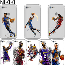 Ciciber Basketball Case James Kobe Bryant Westbrook Harden Curry Soft Silicon Case Cover for Iphone 6 6S 7 8 Plus 5S SE X Coque