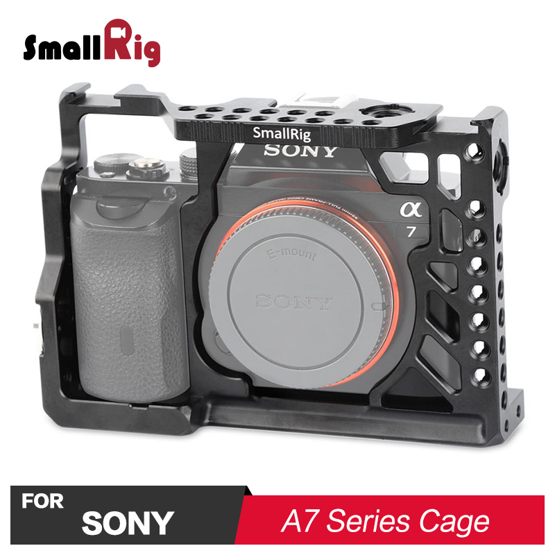 цена на SmallRig A7 Camera Cage for SONY A7/ A7S/ A7R With Cold Shoe Mount Arri Locating Holes For Microphone Magic Arm Attach 1815