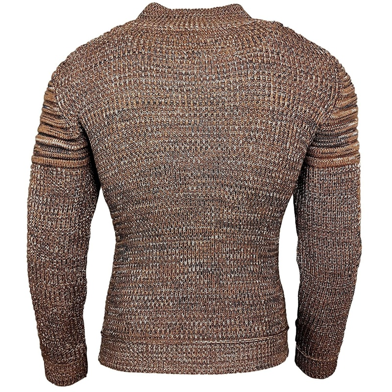 ZOGAA Men's Sweater Knitted Shawl Turtleneck Sweater Pullover Winter Hip Hop Streetwear High Quality Long Sleeve Man's Sweaters