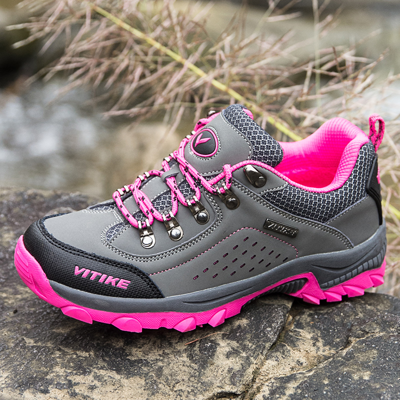 WETIKE 2018 Kids Hiking Shoes Walking Shockproof Outdoor Trekking Sport Shoes Camping Sneakers For Boys and Girls
