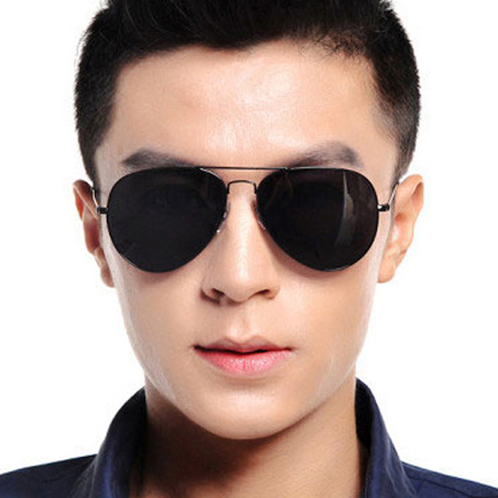 Aviation Metail Frame Oversized Sunglasses Spring Leg Alloy Men Sunglass Polarized Brand Design Pilot Female Sun Glasses Driving in Men 39 s Sunglasses from Apparel Accessories