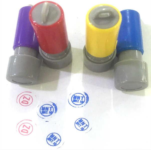 1 Uds personalizado 8mm pequeño sellos sello para su propio logotipo para distinguir reformado LCD Reparación de cable flexible de tinta de impresión
