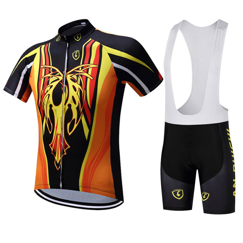 Summer Cycling Mens Suit Mountain Off-road Equipment Breathable Quick-drying Transparent Gel Breathable Mat Free Shipping