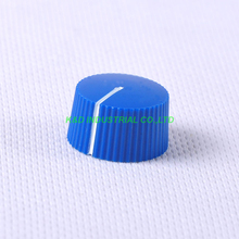 10pcs Colorful Rotary Vintage Control Plastic Blue Knob 21x12mm for 6.35mm Shaft Guitar
