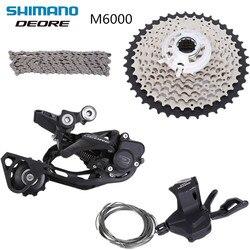 Shimano DEORE m6000 задний переключатель переключения передач hg500 11-42t кассеты hg54 цепь обновления от m610 4 шт Группа