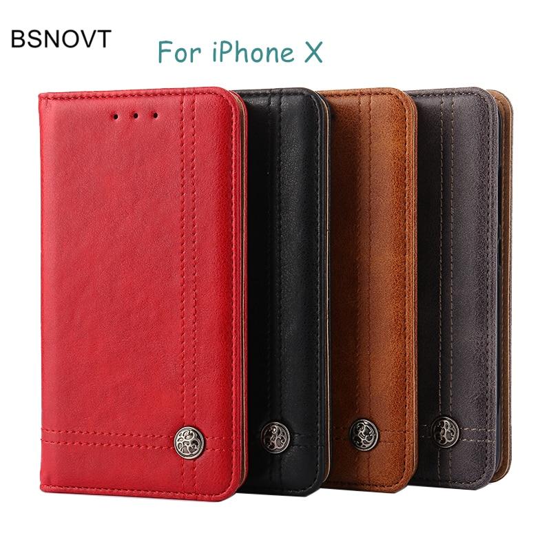 sFor Apple iphone X Case Luxury PU Leather Wallet Purse Phone Case For Apple iphone X Cover For iphone X 8 7 6 6s Plus
