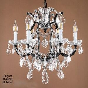 Image 3 - Loft Retro Vintage Big Crystal Chandeliers Lustre Modern Hanging Lamp E14 LED 110V 220V Lighting For Kitchen Living Room Bedroom