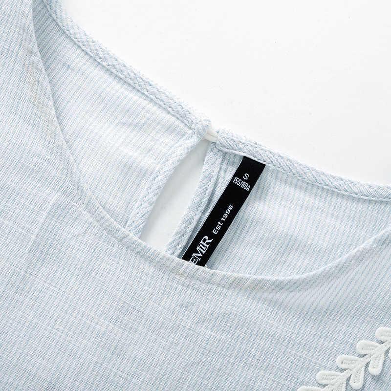 SEMIR nieuwe mode vrouwen gedrukt vintage blouse shirts vrouwelijke high street criss-cross o hals blouses tops shirt