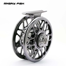 ANGRYFISH Fly Fishing Reel 2 + 1BB Full Metal aleación de aluminio Die Casting Fly Reel Fishing Reel con Large Arbor