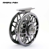 ANGRYFISH Fly Fishing Reel 2 1BB Full Metal Aluminum Alloy Die Casting Fly Reel Fishing Reel
